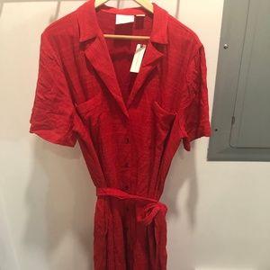 Asymmetrical red dress